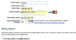 Masukkan Kartu Kredit
