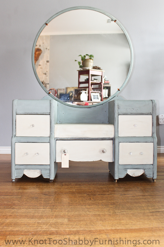An Antique Vanity and a Roadside Rescue - An Antique Vanity And A Roadside Rescue Knot Too Shabby Furnishings