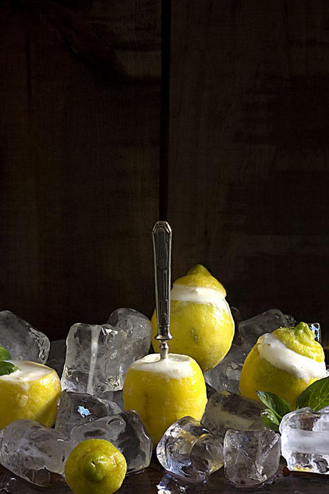 Limones helados al limoncello