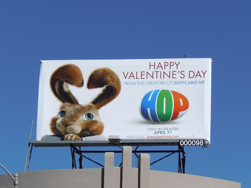 Valentine's Day Hop billboard