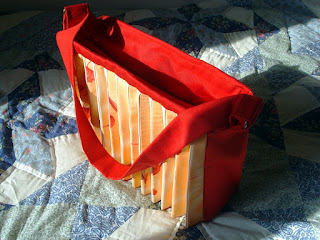 handmade accordion fan bag with zipper