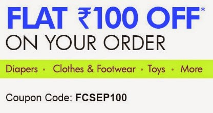 Get Rs.100 Off on your order on Firstcry