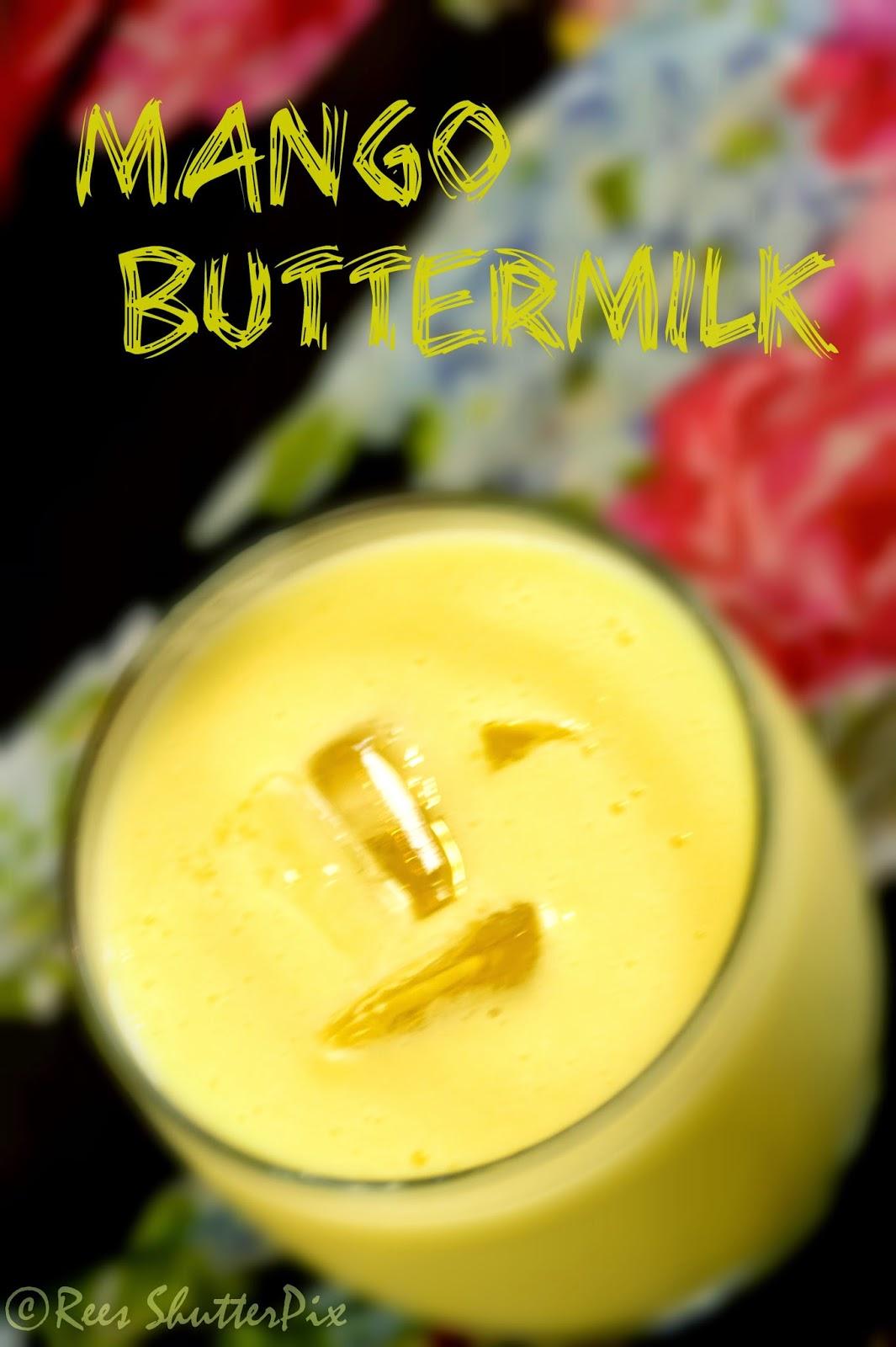 how to make mango buttermilk at home, mango lassi recipe