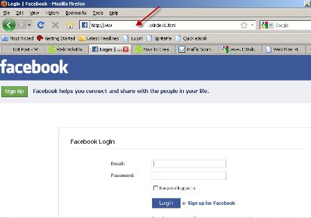 facebook fake login pagefake script