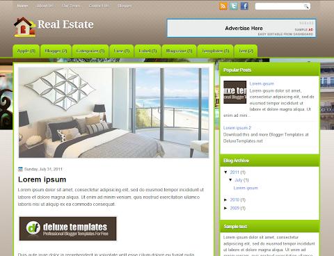 RealEstate Blogger Theme