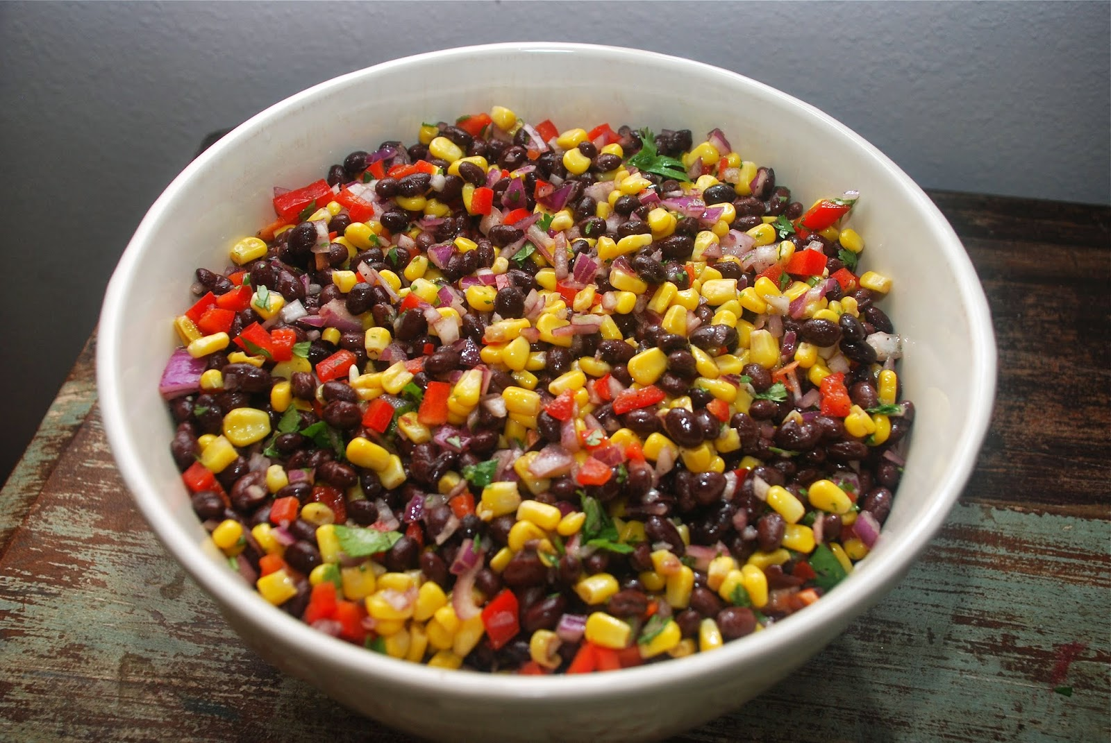 Tomatoes on the Vine: Southwestern Black Bean and Corn Salad