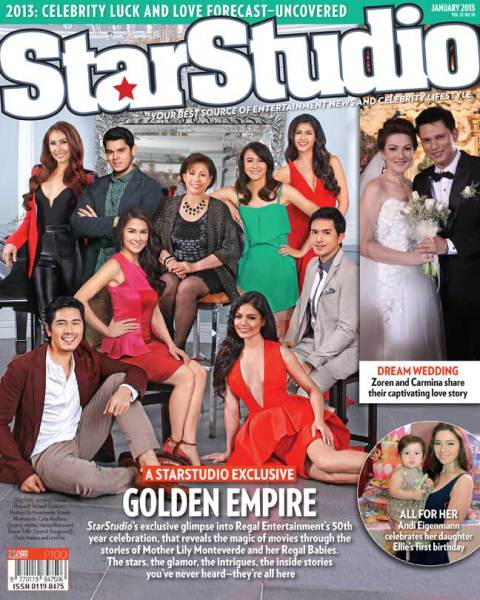 StarStudio January 2013 Cover: Regal's 50 Years with Paulo Avelino, Marian Rivera, Richard Gutierrez, Lovi Poe and More!