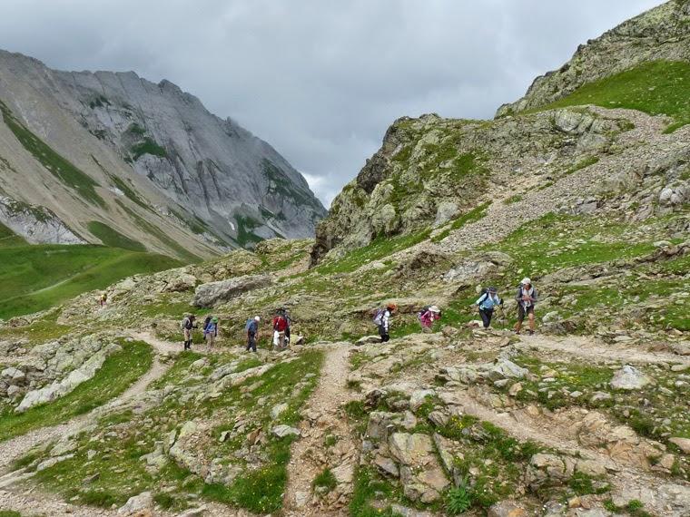 ツールドモンブラン ボンノム峠からの登り 日本人ツアー