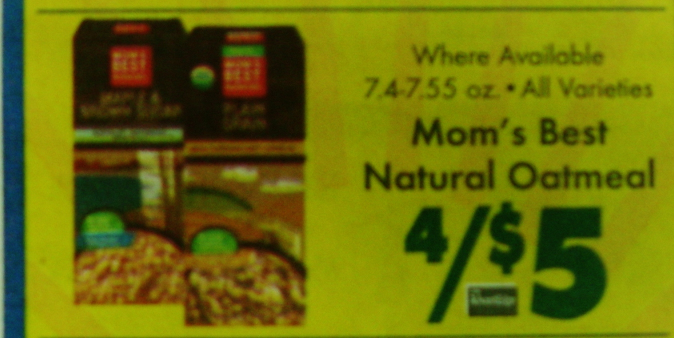 Price Chopper Mom S Best Oatmeal Only 50 Cents 4 8