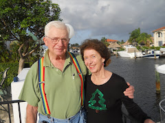 Fred and Marilyn Markus on her dock. A great visit with a good friend!