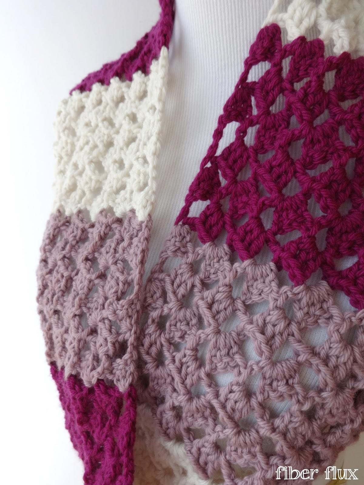 Crochet Pattern For Infinity Scarf With Buttons : Fiber Flux: Free Crochet Pattern...Raspberry Buttercream ...