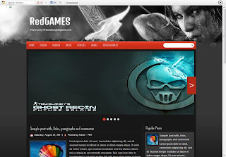 Responsive Blogger Template for Gaming - RedGames