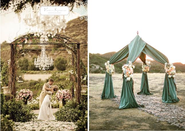 Wedding ceremony decor altars canopies arbors arches for Arbor wedding decoration ideas