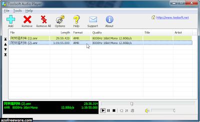 Toolsoft Audio Player(Eufony Free Audio Player)