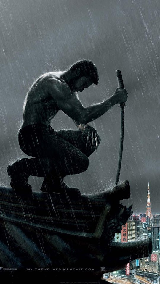 The Wolverine Logan In The Rain   Galaxy Note HD Wallpaper