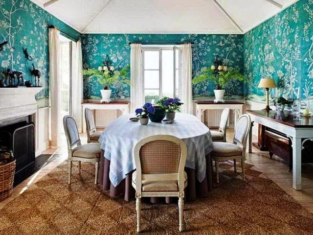 Wall paint colors for dining rooms for Dining room wall paint designs