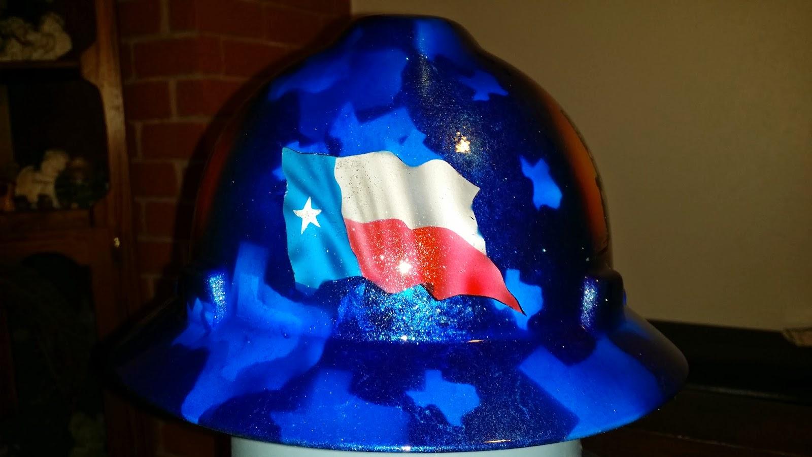 Lone Star texas flag custom hard hat