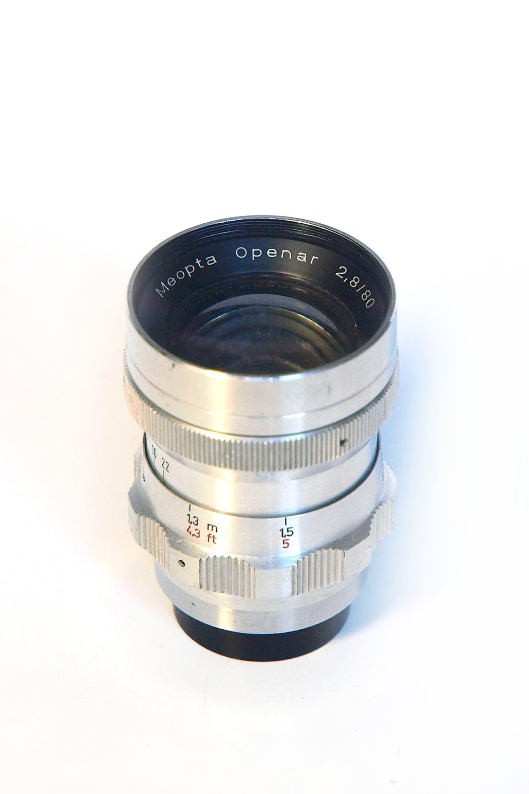 Meopta Openar 80/2.8 without original lens hood.