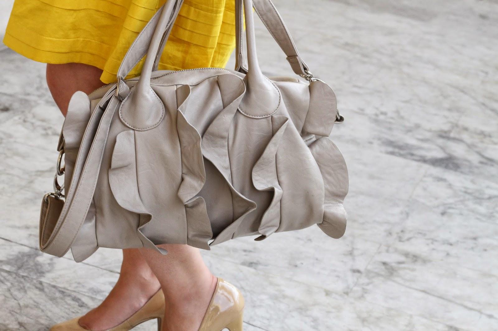 Nude Ruffle Bag