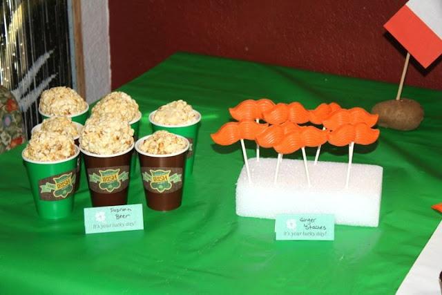 Irish Welcome Home Party Irish popcorn beer