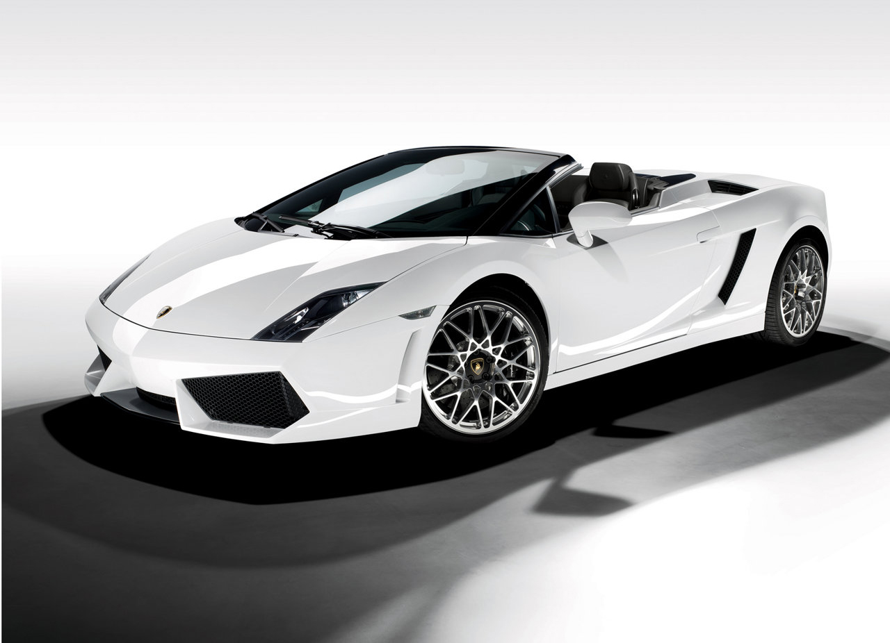 lamborghini gallardo spyder white cool car wallpapers. Black Bedroom Furniture Sets. Home Design Ideas