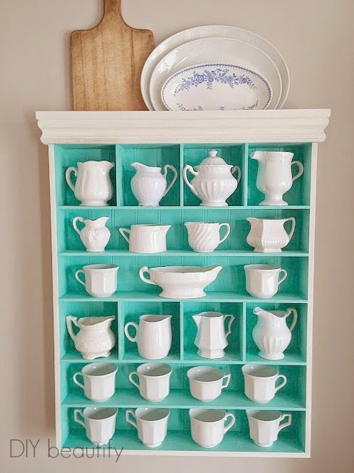 DIY beautify blog ironstone display