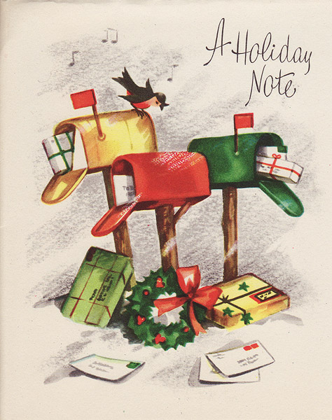 Pictures and Print: Vintage Christmas Cards - 1940s and 1950s