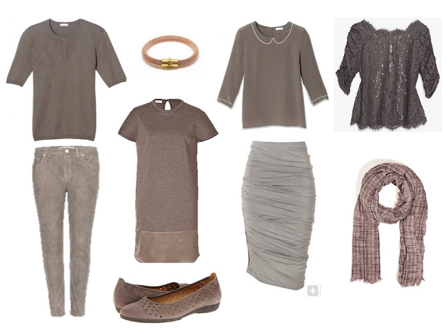 taupe six pack for a dressy long weekend