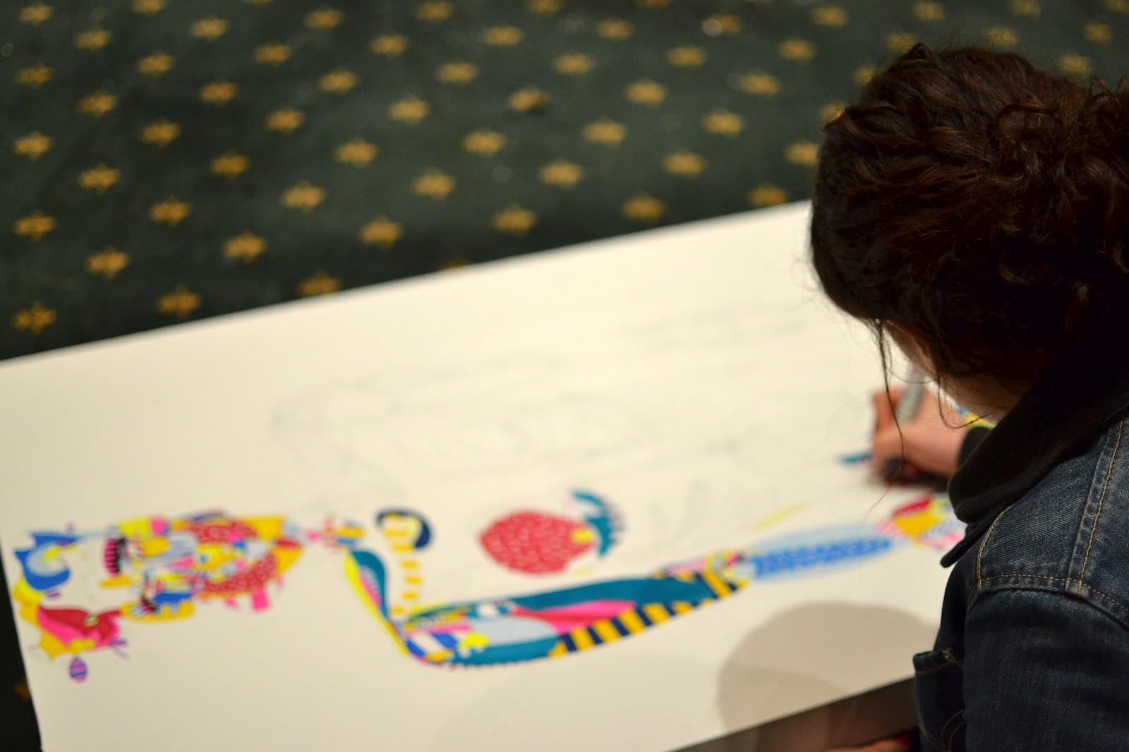 Acid Midget: Graffiti artist Andre does Kitsune Parisien