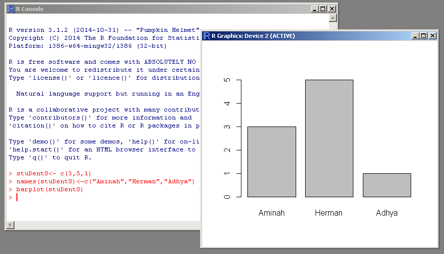 Barplot in R Programming