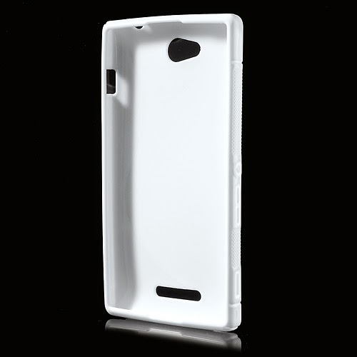 S-Curve Soft TPU Jelly Case for Sony Xperia C C2305 S39h - White