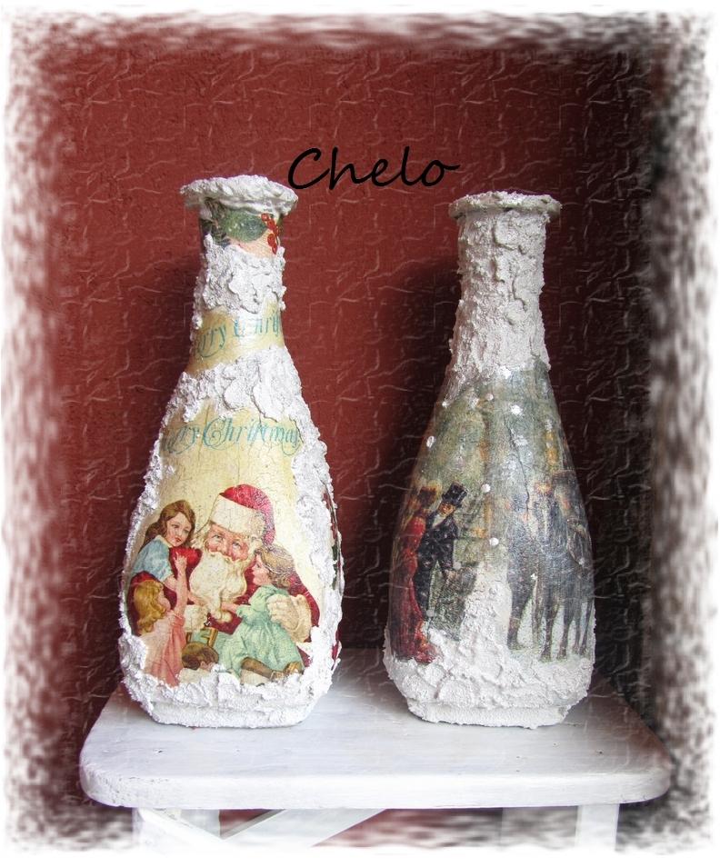 Como decorar botellas con cascara de huevo mejor - Como decorar jarrones ...
