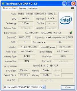 Menggunakan GPU-Z untuk mengetahui spesifikasi VGA