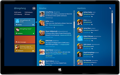 Aplikasi Twitter Windows 8