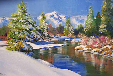 Truckee River Morning oil 9x12