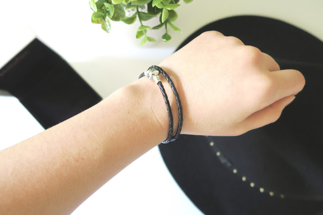 7- 20th Birthday Haul Blog Post- Pandora Black Leather Bracelet