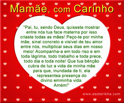 Coração de Feliz dia das mães