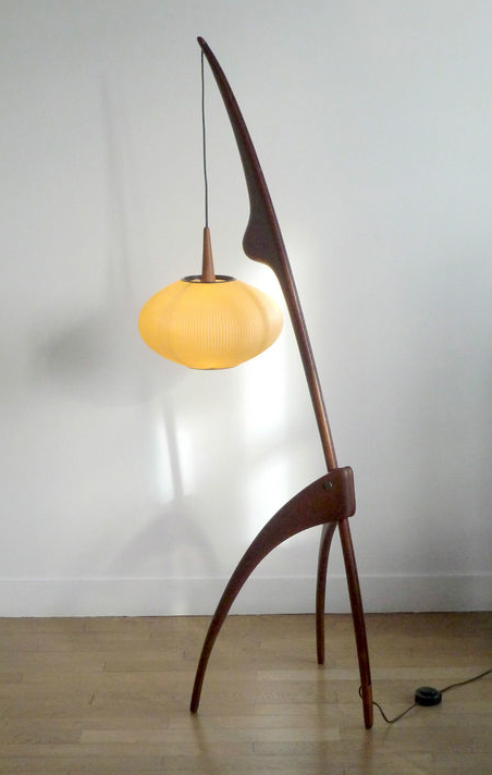 century modern blog incredible mid century rispal france floor lamp. Black Bedroom Furniture Sets. Home Design Ideas