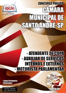 apostila concurso cm santo andre Auxiliar de Serviços Internos e Externos.