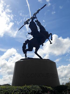 Unconquered statue