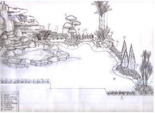 kolam relief taman depan rumah