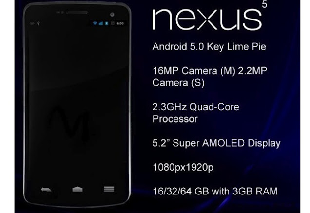 Google Nexus 5 Phone Release Date, Price and Specs