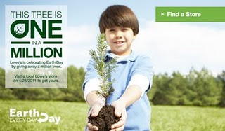Earthday Free Tree from Lowes