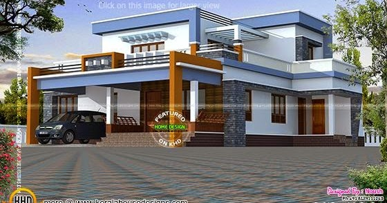 Box type house exterior elevation kerala home design and floor plans for Indian home design photos exterior