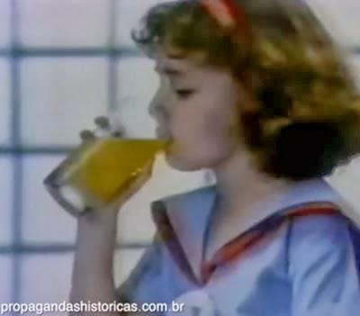 Propaganda dos Sucos Tang em homenagem às crianças em 1991.