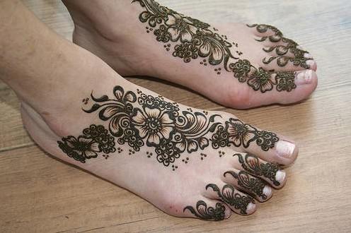 henna tattoo designs for feet. Henna Designs on Feet Light