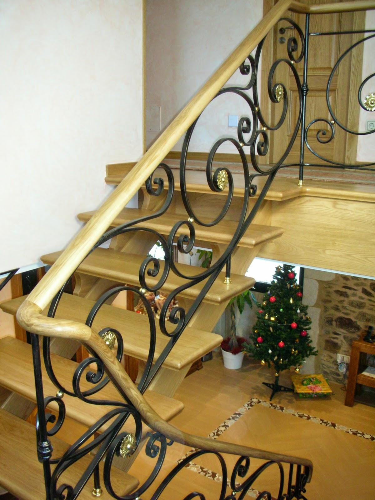 Escaleras y pasamanos pasamanos de forja y madera - Barandas de forja para escaleras ...