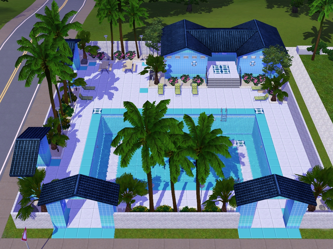 Summer 39 s little sims 3 garden sunset valley the sims 3 for Pool design sims 3
