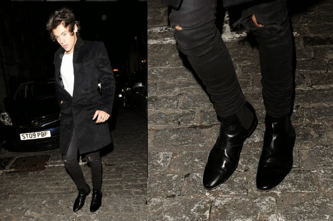 Look casual con bota chelsea de Harry Styles