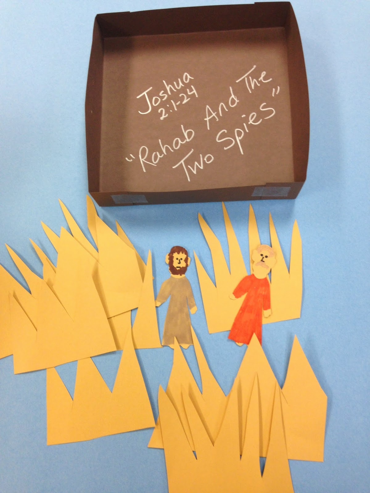 Children 39 s bible lessons lesson rahab and the two spies for Spy crafts for kids